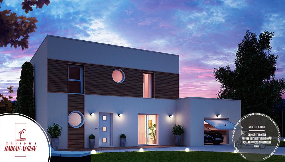 Plan De Maison 3d Moderne : Saturne modèle maison contemporaine