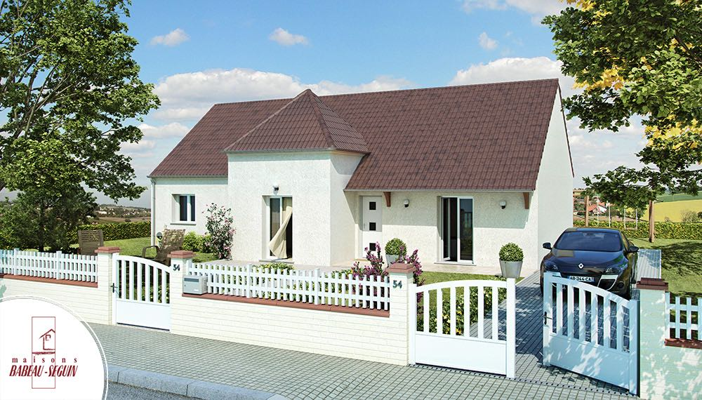 Domaini re mod le maison plain pied for Modele maison en l