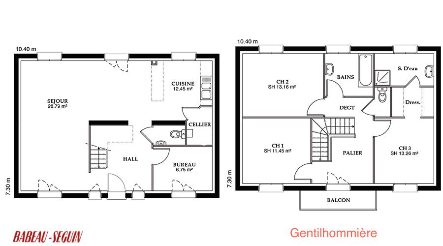 Gentilhommiere Modele Maison Etage