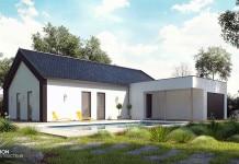 maison moderne avec atrium