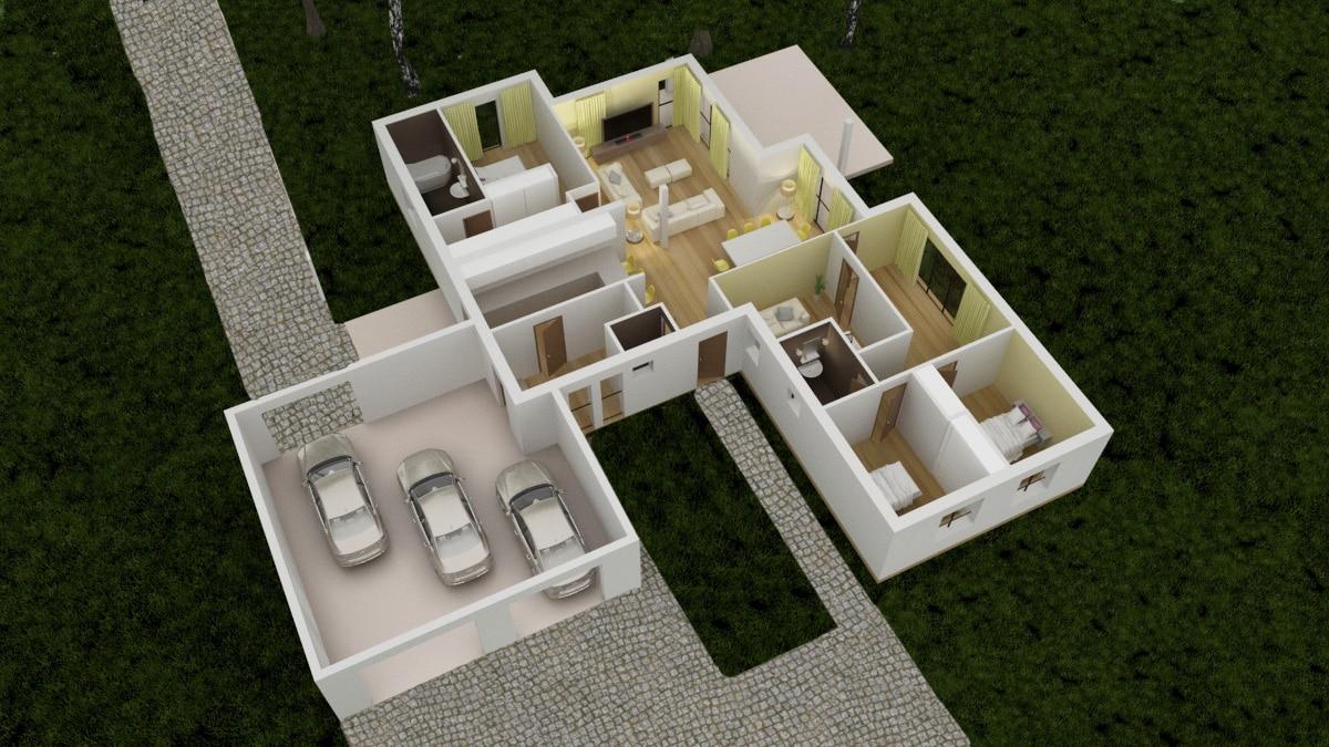 modele de maison erikium. Black Bedroom Furniture Sets. Home Design Ideas