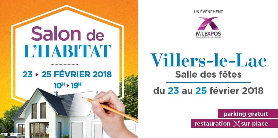 SALON DE L'HABITAT VILLERS LE LAC-MORTEAU du 23 au 25 Février 2018