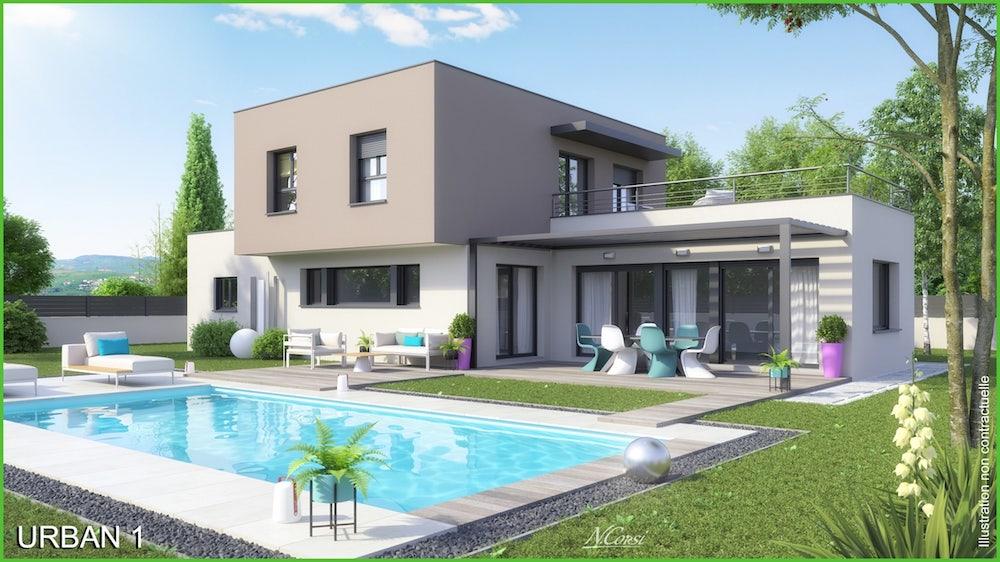 Modele de maison urban for Modele maison en l